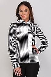 Kaaryah - Black Striped Full Sleeves Shirt