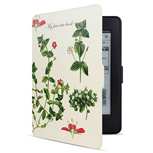 Walnew the Thinnest and the Lightest Colorful Painting Leather Cover Case for Kindle Paperwhite--2013 the All-new Kindle Paperwhite Tablet with 6 Display and Built-in Light (For Kindle Paperwhite)