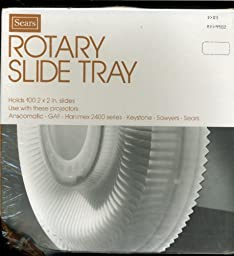 Sears Rotary Slide Tray - Holds 100 Slides - For use with GAF, Anscomatic, Haminex 2400 Series, Keystone, Sawyers, Sears
