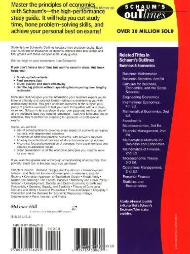 Schaum's Outline of Principles of Economics (Schaum's)