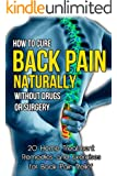 How to Cure Back Pain Naturally Without Drugs or Surgery: 20 Home Treatment Remedies and Exercises for Back Pain Relief (Back Pain Cure, Back Pain Solutions, ... Back Pain, Back Pain Cure) (English Edition)