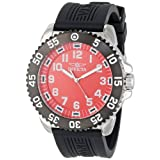 Invicta Men's 15172 Pro Diver Red Dial Black Polyurethane Strap Watch