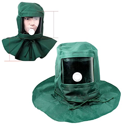 Sand Blasting Hood Cap Anti Wind Sandblaster Tools Dust Protective Face Hood Abrasive Sandblaster Mask Comfortable To Wear Clear Visibility Brand New (Pot Box Vapor compare prices)