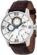 Lotus 15798/1 - Reloj analógico de cuarzo para hombre con correa de piel, color marrón