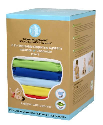 Charlie Banana 2-In-1 Reusable Diapers, Boy front-34044
