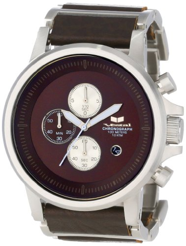 Vestal Men's PLE039 Plexi Brown Silver Watch