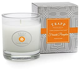 Trapp Seasonal Collection Fireside Pumpkin Poured Candle, 7-Ounce