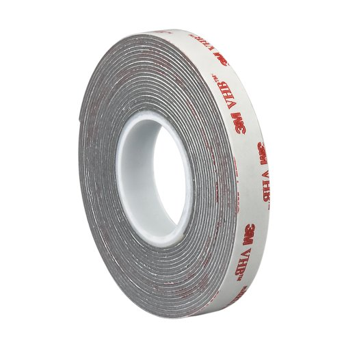Tapecase Vhb 4941 Gray Double Sided Conformable Foam Tape, 45 Mil (1.1Mm) Thick, 0.25In X 5Yd Roll - (1 Roll)