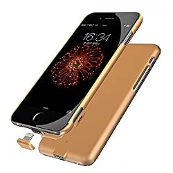 JT Luxury Super Slim Lightest iPhone 6 / 6S Battery Case, External Protective iPhone 6 / 6S Charger Case / iPhone 6 / 6S Extended Backup Battery Pack Cover Case Fits with Any Version of Apple iPhone 6 / 6S