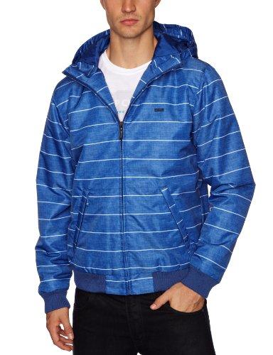 RIP CURL Stripe Hooded Men's Jacket Mazarine Blue Medium