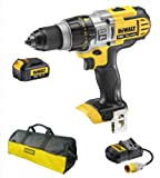 Dewalt DCD985 DCD985N 18V Xr Li-Ion 3 Speed Xrp Combi Drill, 1 DCB180 Battery, 110V DCB105 Charger And Bag