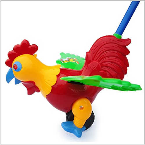 COFFLED® Kids Push Pull Toys Children Educational Toys Rooster Walking Walker For Toddler