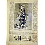 Impresión Antigua del Francés 1866 del Retrato de la Caza del Muchacho de las Jabón-Burbujas