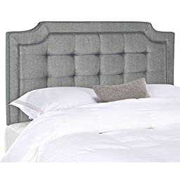 Contemporary Headboard, Upholstered in Deluxe Grey