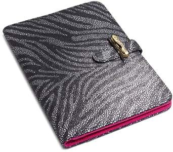 """Diane von Furstenberg Kallie Leather Clutch for Kindle (Fits 6"""" Display, 2nd Generation Kindle) Zebra Print"""