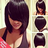 Art of Love 10'' Full Lace Wigs Bob Style Human Hair Wig Natural Color(#1b)