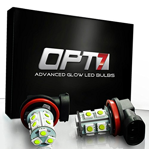 Opt7® 9005 Advanced Glow 13-Smd Led Fog Light Bulbs - 10000K Deep Blue - Plug-N-Play (Pack Of 2)