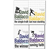 David Baldacci Collection 4 Books Set (the simple truth, saving faith, the winner, the last man standing)