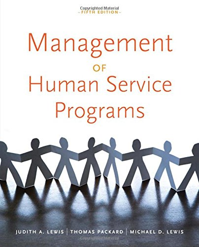 Management of Human Service Programs (SW 393T 16- Social...