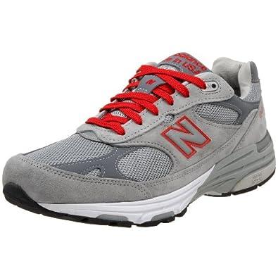 New Balance Men's MR993 Running Shoe,Grey/Red,13 D