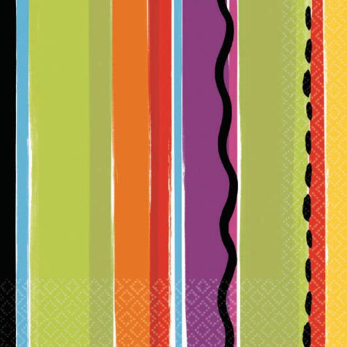 Fiesta Stripe Beverage Napkins 16ct