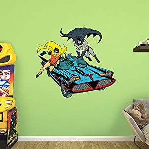 Fathead Classic Batman and Robin with Batmobile Wall Decal at Gotham City Store