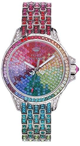 Juicy Couture stella di orologio al quarzo da donna con rosa di display analogico Rosa e cinturino in acciaio inox di 1901264