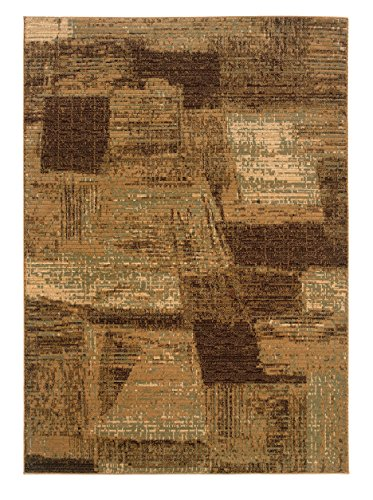 LR Resources Opulence Rug, Light Brown/ Cream, 9' 2