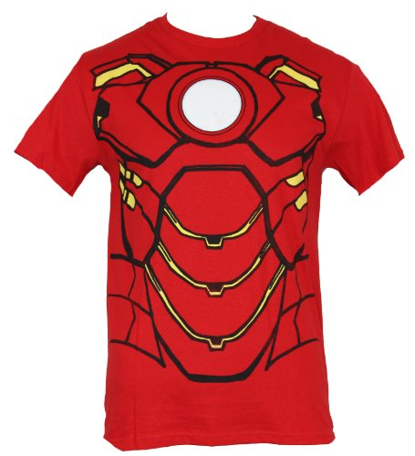 Iron Man (Marvel Comics) Mens T-Shirt - Iron Man Classic Costume Front