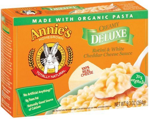 Annie's Homegrown Deluxe Rotini & White Cheddar, 9.3-Ounce Boxes (Pack of 12)