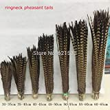 Maslin 100pcs/lot!18-20inches 45-50CM Long Nature Ringneck Pheasant Tail Feather Pheasant Feather for Costume or Hat Design