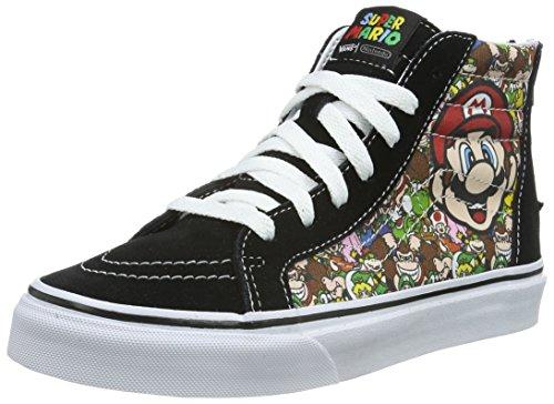 Vans SK8-Hi Zip, Scarpe da Ginnastica Alte Unisex - Bambini, Multicolore ((Nintendo) Mario and Luigi/True White), 34 EU