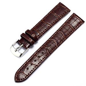 Kronen&Söhne WB1807 - Correa para reloj, acero inoxidable, color marrón por Kronen&Söhne