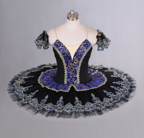 Black/Blue Classical Professional Ballet Tutu for Competition & Performance