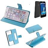 Flipcover Schutz Hülle für Haier Phone L52, blau