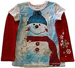 Christmas Snowman Graphic Girl39s Tee XL 1416