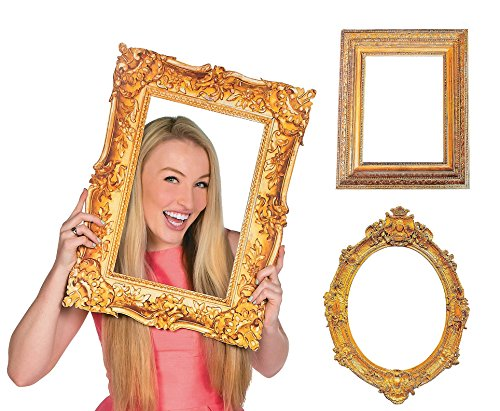 Deluxe Gold Picture Frame Cutouts (3 Piece Variety Pack) (Antique Picture Frames compare prices)