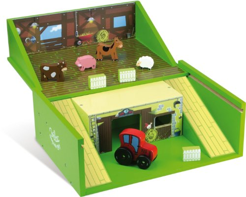 Vilac Puzzle Set in Suitcase, Farm