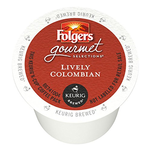 Folgers Gourmet Selections Single Serve Coffee - Lively Colombian - 80 K-Cups (Single Serve Portion Packs designed for use with Keurig Brewers) (Folgers Gourmet Classic Roast compare prices)