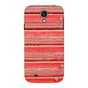Red Wood Lock Design Back Case Cover for Samsung Galaxy S4