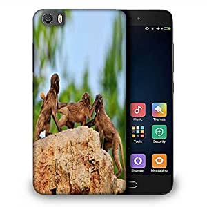Snoogg Monkey Fighting Designer Protective Phone Back Case Cover For Samsung Galaxy J1