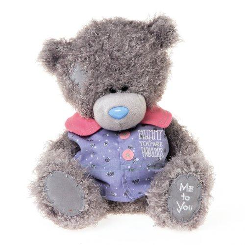 Me to You 9 pollici Tatty Teddy Bear Indossando Mummia Sei Cappotto Fabulous (Grigio)