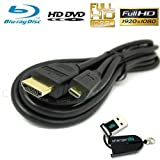 Chargercity® Exclusive 10′ft Hdmi to HDTV Amazon Kindle Fire Hd 7 8.9 Nexus 7 7.7 8 Tablet Hdmi Cable & OEM USB Micro Sd Memory Card Reader/writer (Original Chargercity Manufacture Direct Replacement Warranty Included)