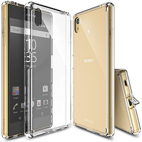 Xperia-Z5-Case-Ringke-FUSION-Shock-Absorption-TPU-Bumper-Drop-Protection-FREE-HD-Screen-Protector-Premium-Crystal-Clear-Hard-Back-Anti-StaticScratch-Resistant-for-Sony-Xperia-Z5