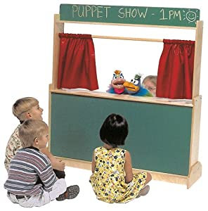 Steffy Wood Products Puppet Theatre/Store, Chalkboard by Steffywood