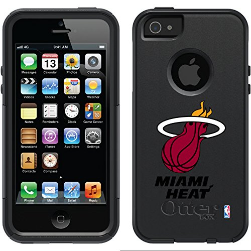 Coveroo Commuter Series Black Cell Phone Case for iPhone 5/5s - Miami Heat (Miami Heat Iphone 5s Case compare prices)