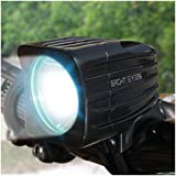 Bright Eyes Rechargeable Bike Headlight - NEW SQUARE MODEL With New 6400mAh Battery - POWERFUL 1200 Lumens - FREE TAILLIGHT AND DIFFUSER LENS Included, Limited Time - WATERPROOF - No Tools required - LIFETIME WARRANTY