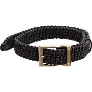 TIMBERLINE Paracord Survival Belt, Black, Small