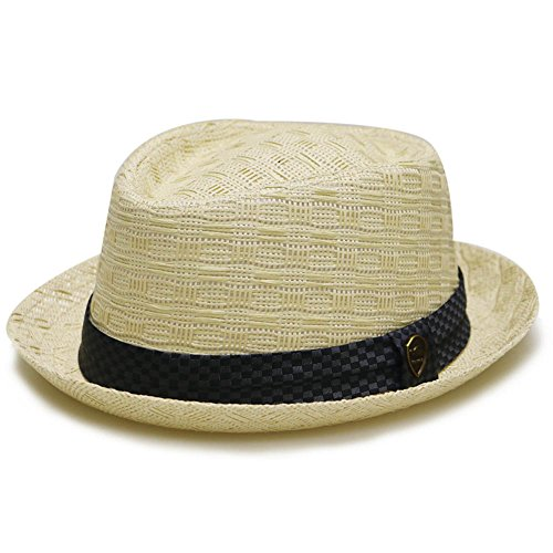 Pamoa Unisex Summer Straw Fedora Hats