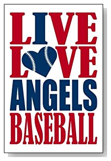 Live Love I Heart Angels Baseball lined journal - any occasion gift idea for Los Angeles Angels fans from WriteDrawDesign.com